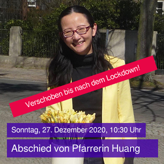 Abschied von Pfarrerin Luping Huang